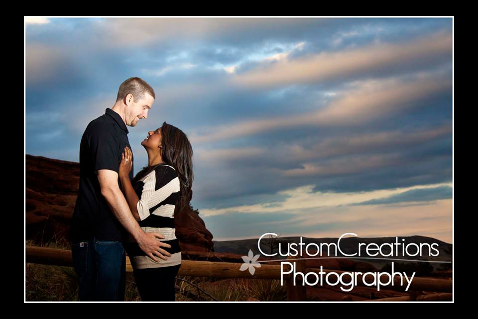 colorado red rocks engagement photo
